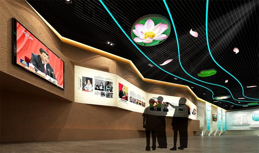 数字多媒体展馆,一分钟带你速览高科技_展厅设计
