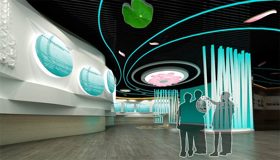 自动化多媒体展示厅的互动展项有哪些?都有什么特点?_展馆投影图片