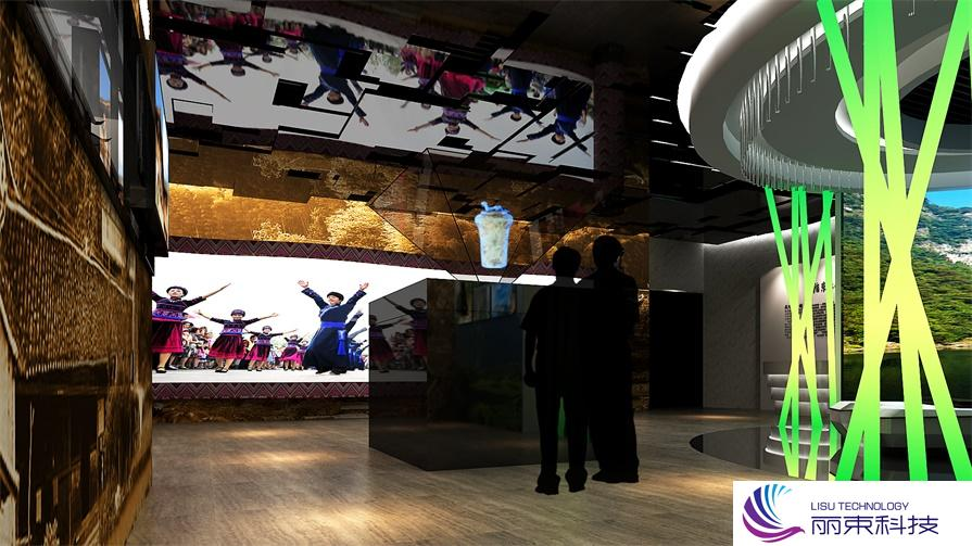 """展示中心多媒体投影,一个玩转""""游戏""""的互动乐园_展厅设计"""